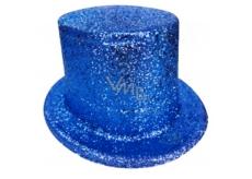 Carnival top hat 25 cm blue