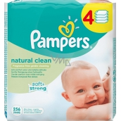 Pampers Natural Clean Wet Wipes 4 x 64 pieces