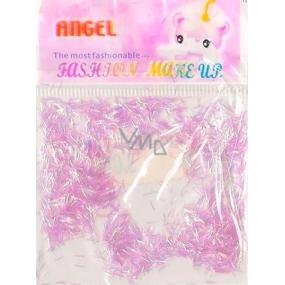 Angel nail decorations ribbon pink 2 g