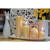 Lima Pastel candle metal dark yellow large egg 60 x 90 mm 1 piece