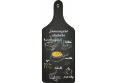 Bohemia Gifts Decorative cutting board French onion soup with original print 28 x 12 cm