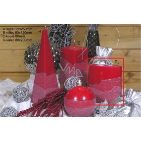 Lima Artic candle red ellipse 110 x 125 mm 1 piece