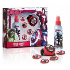 Marvel Avengers Body Deodorant Spray for Kids 100 ml + rocket launcher with 4 disks, cosmetic set
