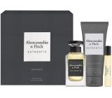 Abercrombie & Fitch Authentic Man eau de toilette for men 100 ml + eau de toilette 15 ml + shower gel 200 ml, gift set