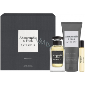 Abercrombie & Fitch Authentic Man EdT 100 ml men's eau de toilette + 15 ml + Eau de Toilette + 200 ml shower gel