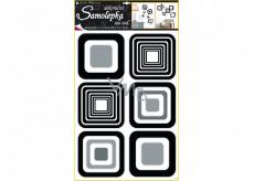 Square wall stickers black, 60 x 42 cm