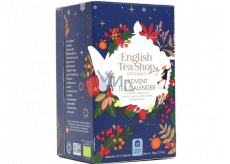 English Tea Shop Bio Advent calendar blue 24 pieces of biodegradable tea pyramids, 13 flavors, 50 g, gift set