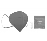 Healfabric Respirator oral protective 5-layer FFP2 face mask gray 1 piece