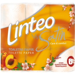 Linteo Satin Care and Comfort toilet paper Peach 2 ply 180 snippets 9 pieces