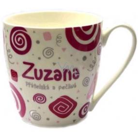 Nekupto Twister mug named Zuzana pink 0.4 liter