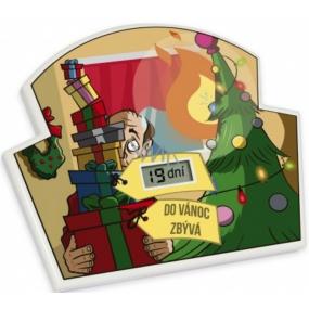 Albi Odpočítávač Do vánoc, Nejdelší doba pro odpočet je 365 dní, 23h, 59 minut a 59 vteřin, 17x14x1,5 cm