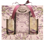 Bohemia Gifts Lavender shower gel 100 ml + soap 100 g + hair shampoo 100 ml, cosmetic set