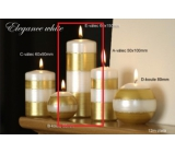 Lima Elegance White Candle Gold Cylinder 60 x 150 mm 1 piece