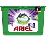 Ariel 3in1 Color Washing Gel Capsules protect and revive the colors of 14 pieces of 418.6 g