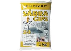Kittfort Gips Gypsum Plastic 2in1 Gypsum Mortar + Putty 1 kg