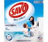 Savo Bez chloru White prací prášek na bílé prádlo 20 dávek 1,4 kg