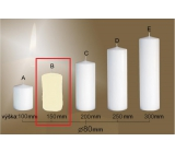 Lima Gastro smooth candle ivory cylinder 80 x 150 mm 1 piece