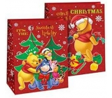 Ditipo Disney Gift Paper Bag for Kids L Winnie the Pooh Sweetest Holiday 26.4 x 12 x 32.4 cm