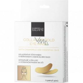 Gabriella Salvete Collagen Gold Eye Mask collagen eye mask in pillows with chamomile and essential oils 5 pairs