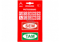 Arch Information pictograms Here and There in a blister 9.5 x 16.5 cm