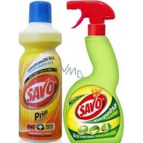 Savo Prim Disinfectant cleaner 1 l + Savo Bathroom 500 ml