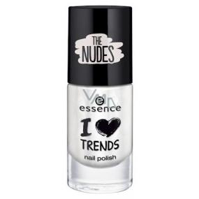 Essence I Love Trends Nail Polish The Nudes nail polish 01 Walk On The White Side 8 ml