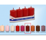 Lima Candle smooth wine cylinder 40 x 70 mm 4 pieces