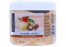 Bio Glow Macadamia Nuit Oil Face & Body Scrub peeling na obličej a tělo 300 ml