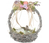 Wicker basket with lavender 20 cm