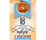Nekupto Birthday card with badge Nothing is impossible 115 x 170 mm