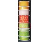 Nekupto Fabric ribbon green white polka dots 3 mx 25 mm