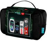 Palmolive Men Refreshing 3 in 1 shower gel 250 ml + Invigorating hair shampoo 350 ml + Colgate Natural extracts Charcoal + White toothpaste 75 ml + Colgate Slim Charcoal Soft soft toothbrush + case, cosmetic set
