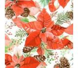 Nekupto Paper napkins 3 ply 33 x 33 cm 20 pieces Poinsettia