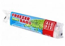 Alufix Freezer bags, with closing clamps and space for descriptions 1 liter, 40 pieces