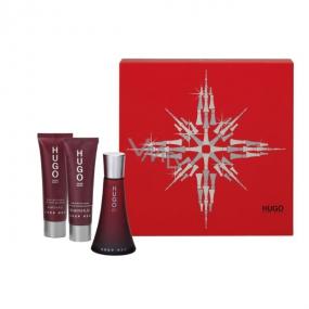 Hugo Boss Deep Red Eau de Toilette 50 ml + Body Lotion 50 ml + Shower Gel 50 ml