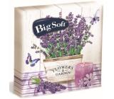 Big Soft Lavender paper napkins 2 ply 33 x 33 cm 20 pieces