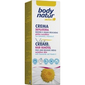 Body Natur Sensitive Camomile and vitamin E depilatory cream for underarms and bikini areas 50 ml