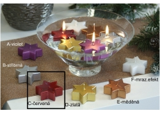 Lima Star Floating Candle Red 60 x 60 x 25 mm 1 piece