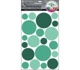 Room Decor Wall stickers circles green 60 x 32 cm