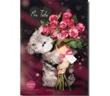 Me to You Svítící přání s růžemi Pro Tebe 14,8 x 21 cm