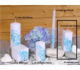 Lima Flower candle blue prism 45 x 120 mm 1 piece