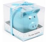 Albi Cash box small piggy On something nice blue 7 cm × 6,5 cm × 7,3 cm