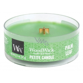 WoodWick Palm leaf - Palm leaf scented candle with wooden wick petite 31 g