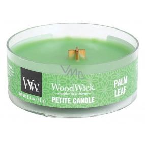 WoodWick Palm leaf - Palmový list vonná svíčka s dřevěným knotem sklo petite 31 g