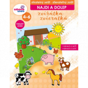 Ditipo Najdi a dolep Animals erasable notebook, removable stickers, develops logical thinking, fine motor skills for children 4-6 years 16 pages