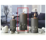 Lima Starlight candle gray / silver cylinder 70 x 150 mm 1 piece