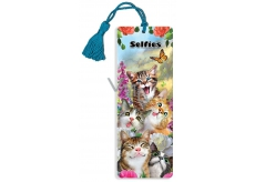 3D Bookmark - Cat's Selfie 5.7 x 15.3 cm