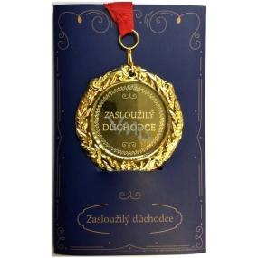 Albi Envelope Card Greeting Card Medal - Pensioner W