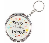 Albi Mirror - key ring with text Enjoy the little things 6.5 cm
