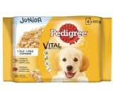 Pedigree Vital Protection Junior with chicken and rice, with turkey and rice in jelly pouch 4 x 100 g